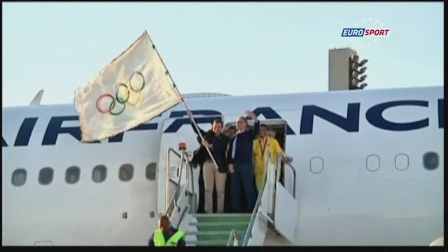 Olympic flag arrives in Brazil