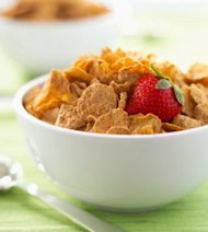 Bowl of bran flakes