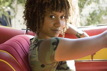 "Tracie Thoms in the ""Death Proof"" segment of Dimension Films' Grindhouse"