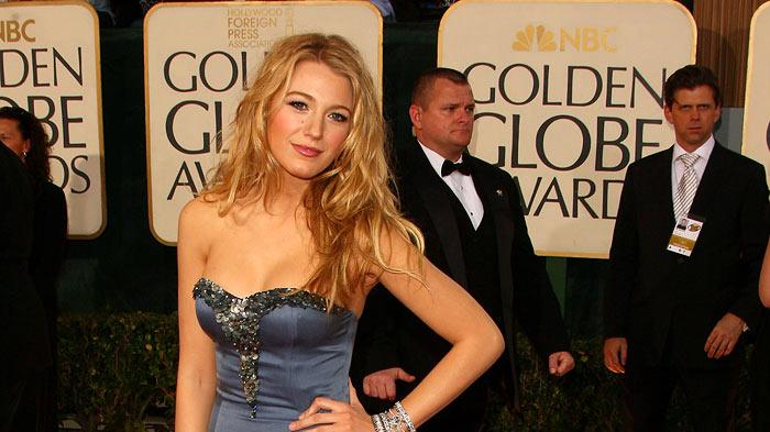 Blake Lively arrives at the 66th Annual Golden Globe Awards held at the Beverly Hilton Hotel on January 11, 2009 in Beverly Hills, California.