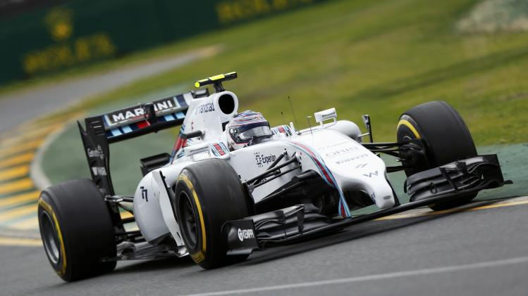 Williams Formula One driver Bottas of Finland drives during the qualifying session for the Australian F1 Grand Prix in Melbourne