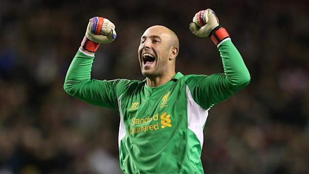 Liverpool goalkeeper Pepe Reina