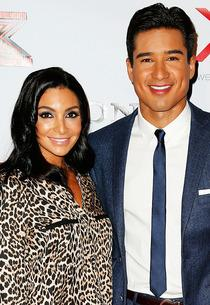 Courtney Laine Mazza, Mario Lopez  | Photo Credits: Imeh Akpanudosen/Getty Images