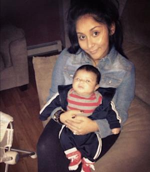 Nicole 'Snooki' Polizzi and son Lorenzo -- Twitter