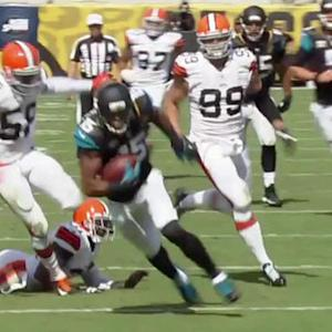 Jacksonville Jaguars wide receiver Allen Robinson 31-yard touchdown reception