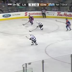 Hall buries Perron's no-look backhanded pass