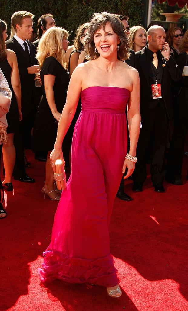 Sally Field arrives at the 59th Annual Primetime Emmy Awards at the Shrine Auditorium on September 16, 2007 in Los Angeles, California.
