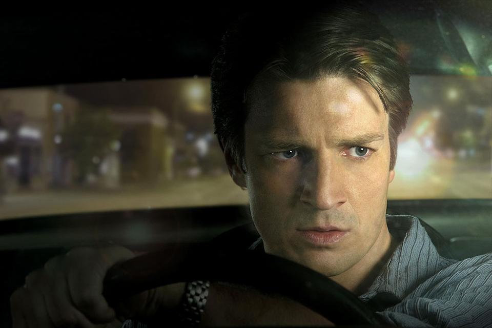 Alex Tully (Nathan Fillion) participates in an underground cross-country road race in Drive.