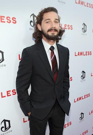 A scruffy Shia LaBeouf arrives at the premiere of 'Lawless' held in Hollywood, Calif. on August 22, 2012  -- Getty Images