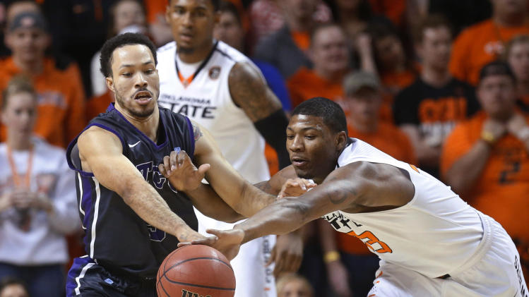 Smart leads No. 9 Oklahoma State past TCU 82-50