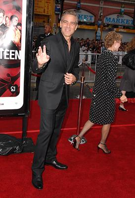 George Clooney at the Los Angeles premiere of Warner Bros. Pictures' Ocean's Thirteen