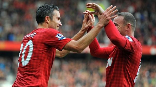 Robin van Persie and Wayne Rooney, Manchester United