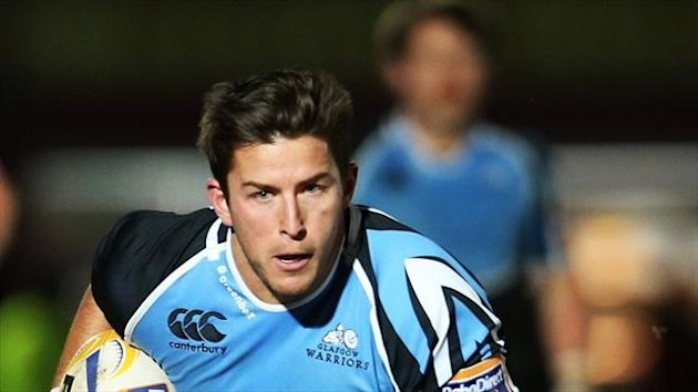 DTH van der Merwe, pictured, scored a late try to help Glasgow defeat Ospreys.