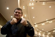 Former world champion Ricky Hatton poses for a picture in Hong Kong in April 2012. Hatton has revealed how close he came to suicide during his three-year break from boxing, as he prepares to relaunch his career with a fight next month