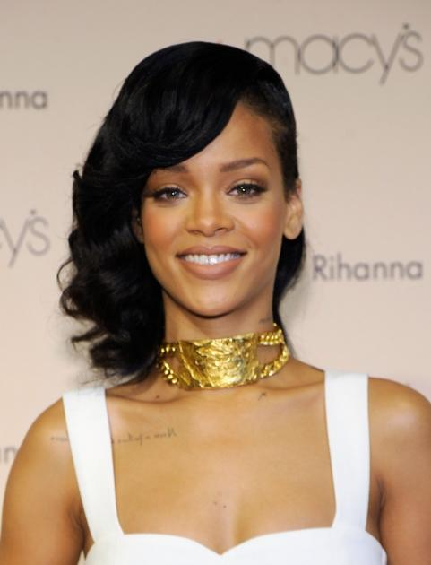 Rihanna is seen looking glam at the launch of her 'Nude by Rihanna' fragrance at Macy's Westfield in Century City, Calif., on December 1, 2012 -- Getty Images