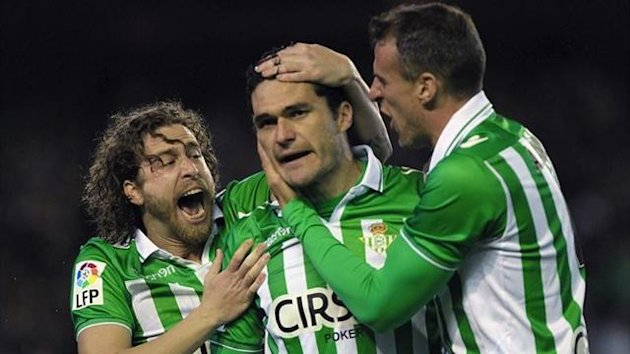 Amaya, Jorge Molina and Cañas Real Betis