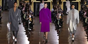 (Getty Images) Oversize coats were a major theme on Stella McCartney's fall 2013 runway.