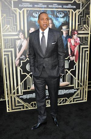 """Jay-Z attends """"The Great Gatsby"""" world premiere at Avery Fisher Hall on Wednesday May 1, 2013 in New York. (Photo by Evan Agostini/Invision/AP)"""