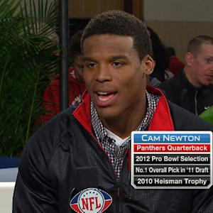 'Super Bowl XLVI Live': Carolina Panthers quarterback Cam Newton interview