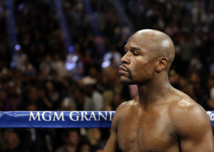 Floyd Mayweather is the pound-for-pound king. (AP)