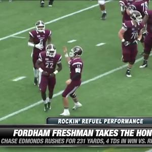 Fordham's Edmonds wins Rockin' Refuel® Performance of the Week
