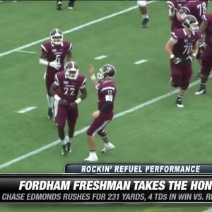 Fordham's Edmonds wins Rockin' Refuel® Performance of the Week