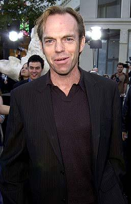 Hugo Weaving humbly defers the title of Nerd Movie King to Ian McKellen at the Hollywood premiere of Warner Brothers' The Matrix: Reloaded