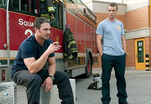 Taylor Kinney and Jesse Spencer | Photo Credits: Matt Dinerstein/NBC