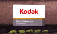 An sign at Eastman Kodak Co's corporate headquarters stands in 2011 in Rochester, New York. An appeals court on Monday sided with bankrupt photo pioneer Eastman Kodak by endorsing a US International Trade Commission (ITC) move rejecting claims it infringed on two Apple patents
