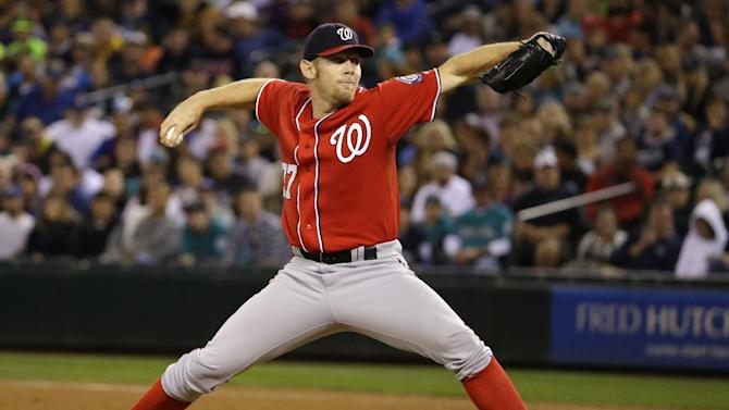 Strasburg pitches Nats to 3-1 win over Mariners