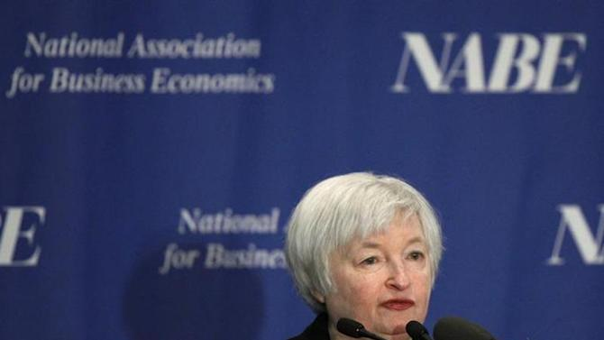 Federal Reserve Vice Chair Janet Yellen addresses the 29th National Association for Business Economics Policy Conference in Washington March 4, 2013. REUTERS/Gary Cameron/Files