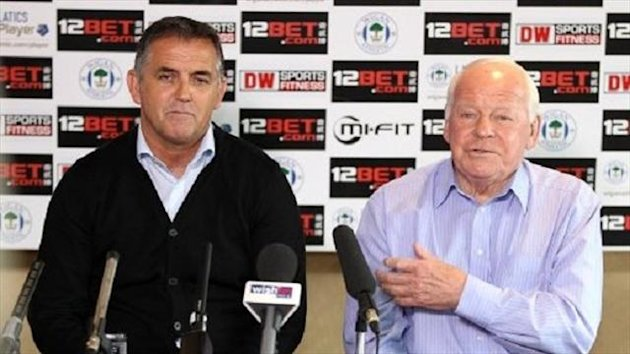 Owen Coyle and Wigan chairman Dave Whelan