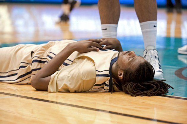 Oral Roberts star Dominique Morrison after losing in the Summit League ...