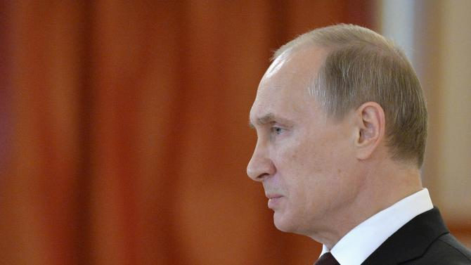 Russia's President Putin attends a ceremony of receiving credentials from foreign ambassadors, at the Kremlin in Moscow
