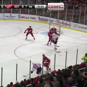Jimmy Howard Save on Mark Streit (00:56/1st)