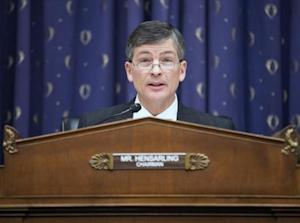 Chairman of the House Financial Services Committee, Hensarling questions financial regulators about the effects of the Volcker Rule