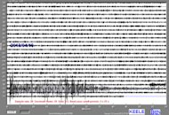 The Iran earthquake arriving on a seismometer at Keele University in the UK.