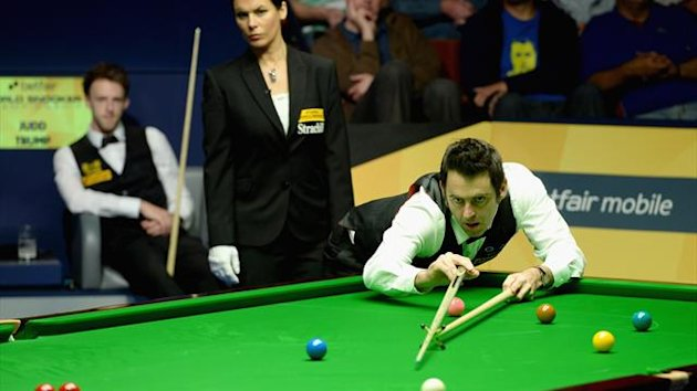 Ronnie O'Sullivan takes on Judd Trump in the World Championship semi-final (Getty)