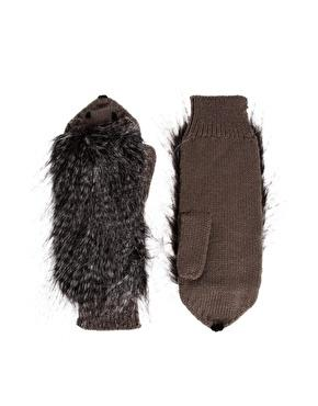 Faux-Fur Hedgehog Mittens, $20.35