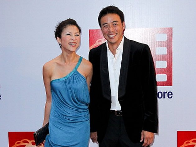 Celebrity couple Wong Li-Lin and Allan Wu at ScreenSingapore in 2011. (Getty Images file photo)