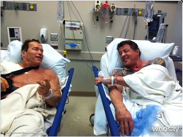 Stars Injured on Set, Arnold …