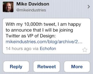 Twitter's New VP of Design Doesn't Use Twitter's Mobile App