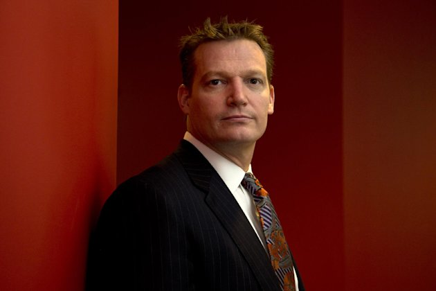 Mandiant founder and CEO Kevin Mandia is seen in his office in Alexandria, Va., Wednesday, Feb. 20, 2013. Mandiant, started in 2004 by Mandia, a private technology security firm described in extraordinary detail efforts it blamed on a Chinese military unit to hack into 141 businesses, mostly inside the U.S., and steal commercial secrets. China denies the claim. (AP Photo/Jacquelyn Martin)