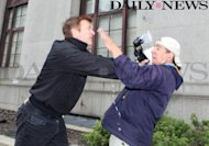 Alec Baldwin is involved in an incident with a photographer (Courtesy of The New York Daily News) -- New York Daily News