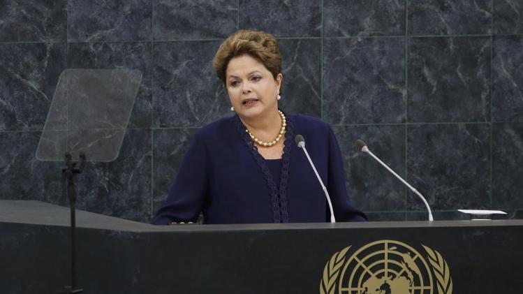Brazil's President Rousseff addresses the 68th United Nations General Assembly in New York