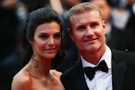 CANNES, FRANCE - MAY 22:  Former Formula 1 driver David Coulthard (R) and Karen Minier attend the 'All Is Lost' Premiere during the 66th Annual Cannes Film Festival at Palais des Festivals on May 22, 2013 in Cannes, France.  (Photo by Vittorio Zunino Celotto/Getty Images)