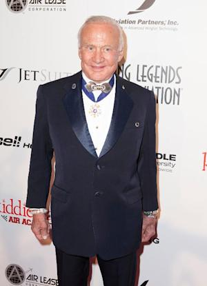 US astronaut Buzz Aldrin pictured at the Living Legends …