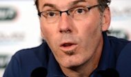 French head coach Laurent Blanc speaks during a press conference in Donetsk. Poland were on Thursday preparing to kick off Euro 2012 on home soil, with opponents Greece seeking a morale-boosting win to lift a beleaguered nation hit by political turmoil and crippling financial woes