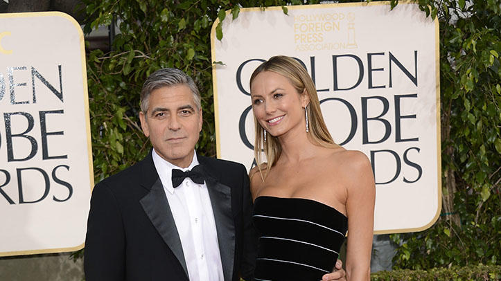 "NBC's ""70th Annual Golden Globe Awards"" - Arrivals: George Clooney and Stacy Keibler"