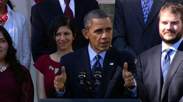 """Health care law itself """"working just fine,"""" Obama says"""